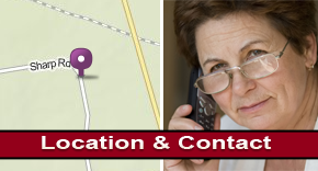 Map and Senior on the Phone - Assisted Living Company